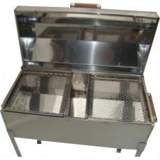 Churrasqueira Bafo Aço Inox 430 ( MÉDIA / 2 Grelhas)