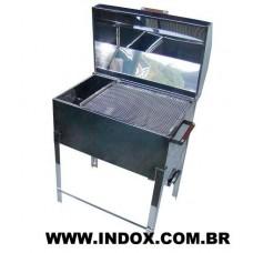Churrasqueira Bafo Aço Inox 430 ( MÉDIA / 1 Grelha)