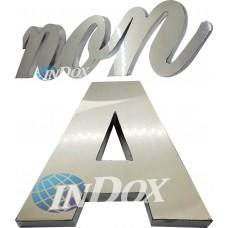 Letras inox  10 CM